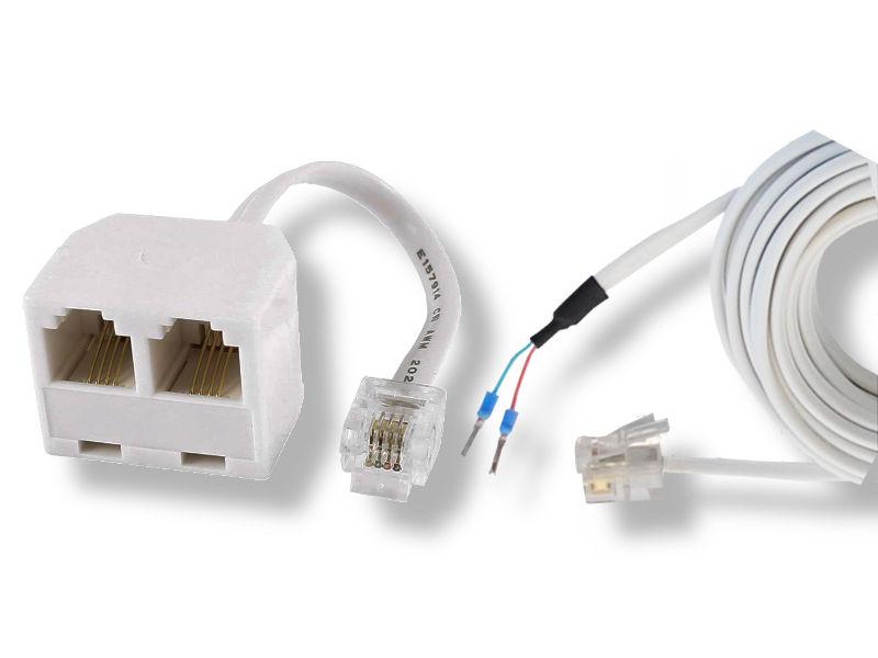 RJ11 Kabel und Y-Adapter für All IP Wecker Anschluss